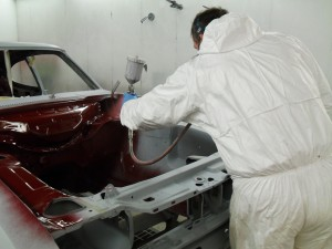 Ford Capri Brooklands in early stage of complete restoration